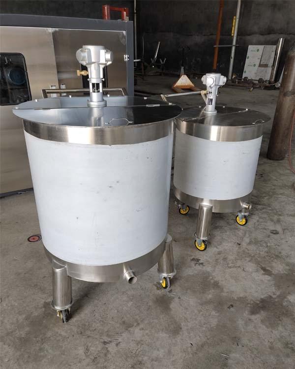不绣钢搅拌桶 气动搅拌桶 无极调速搅拌桶